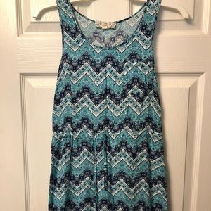 Blue print dress in excellent condition